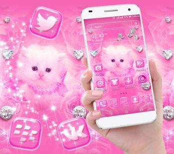 Screenshots - Cute Pink Cat Launcher Theme
