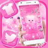 Cute Pink Cat Launcher Theme
