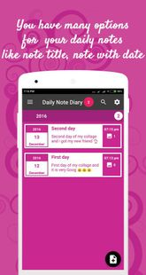 Screenshots - Daily note diary