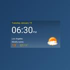 Digital clock weather theme 1