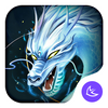 Divine Cool White Dragon-APUS Launcher theme