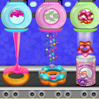 Donuts Cooking Factory: Baking Dessert in Kitchen