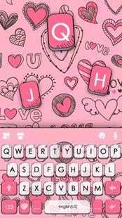 Screenshots - Doodle Pink Love Keyboard Theme