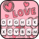 Doodle Pink Love Keyboard Theme