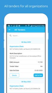 Screenshots - E-procurement Tender App
