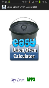 Screenshots - Easy Dutch Oven Calculator