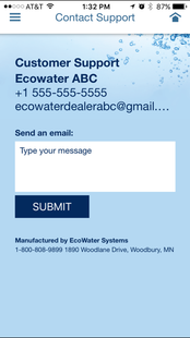 Screenshots - EcoWater Systems Wi-Fi Manager