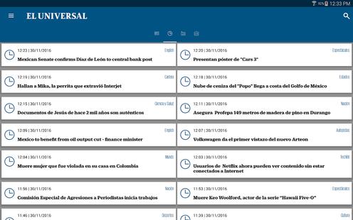 Screenshots - El Universal