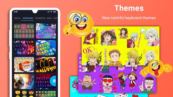 Screenshots - Emoji Keyboard Cute Emoticons - Theme, GIF, Emoji