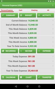 Screenshots - Expense Manager
