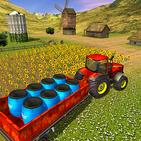 Pertanian Traktor Cargo Driving Simulator 19