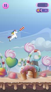 Screenshots - Flappy Unicorn Dash: Candy Hunt over the Rainbow