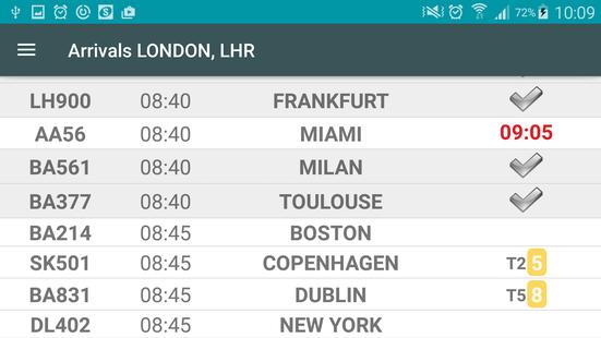 Screenshots - Flight Board