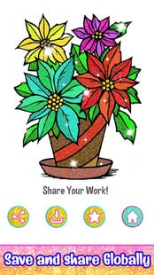 Screenshots - Flowers Color by Number: Crayon + Glitter Painting
