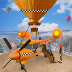 Flying Taxi Simulator: Air Balloon Taxi Driving 3D