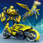 Flying Zebra Robot Bike Game: Robot Games