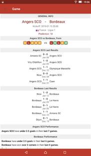 Screenshots - Football Tips & Stats - A Football Report