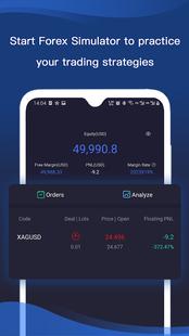 Screenshots - Forex Simulator - trading with real market data