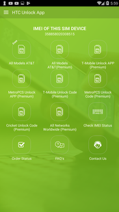 Screenshots - Free Unlock Network Code for HTC SIM