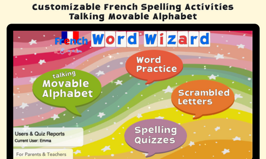 Screenshots - French Word Wizard - Learn to read and spell