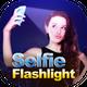Front flash for selfie