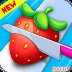 Fruit Slice Chop- Perfect Knife Slice Cutter ASMR.