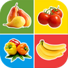 Fruits and Vegetables for Kids - Flashcards Puzzle