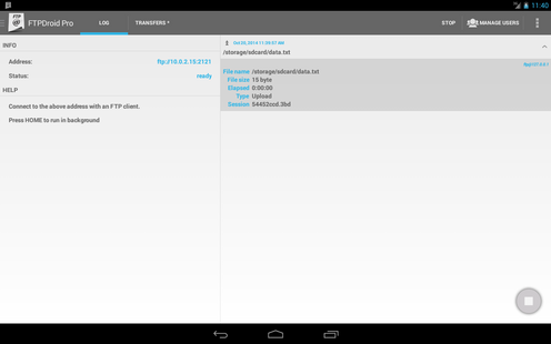 Screenshots - FTPDroid