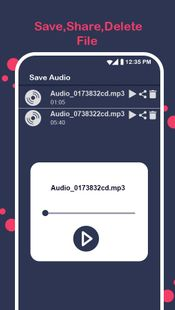 Screenshots - funny voice changer effect editor