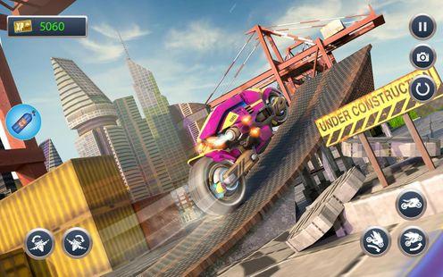 Screenshots - Futuristic Flying Motorbike Rider Driving
