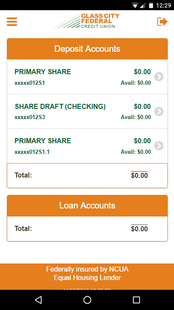 Screenshots - Glass City FCU Mobile