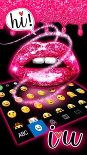 Screenshots - Glitter Drop Sexy Lips Keyboard Theme
