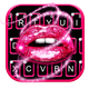 Glitter Drop Sexy Lips Keyboard Theme