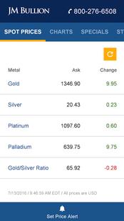 Screenshots - Gold & Silver Spot Price