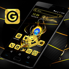 Gold Feather Launcher Theme