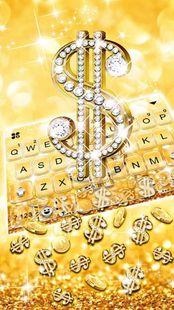 Screenshots - Golden Dollar Gravity Keyboard Background
