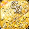 Golden Dollar Gravity Keyboard Background