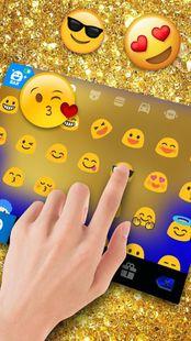 Screenshots - Golden Glitter Keyboard Theme