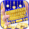 Golden Glitter Keyboard Theme