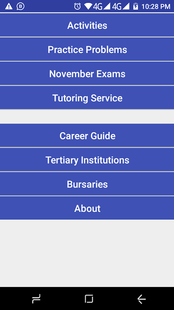 Screenshots - Grade 10 Life Sciences Mobile Application