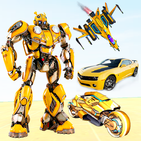 Grand Robot Bike Transform City Attack