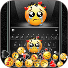 Gravity Sad Emojis Keyboard Background