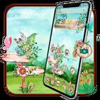 Green Floral Garden Theme
