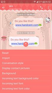 Screenshots - Handcent Skin(Pink Love)