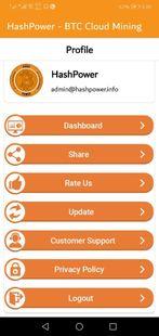 Screenshots - HashPower - BTC Cloud Mining