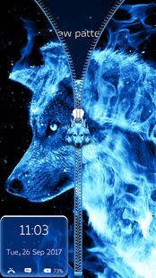 Screenshots - Ice Fire Wolf Lock Screen Zipper