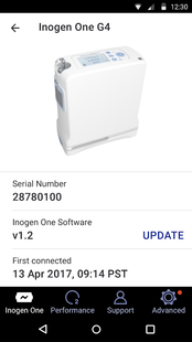 Screenshots - Inogen Connect Portable Oxygen