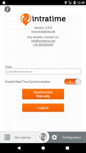 Screenshots - Intratime - Track work time