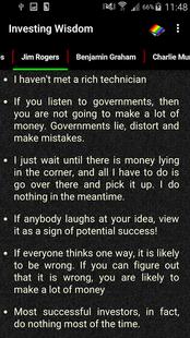 Screenshots - Investing Wisdom