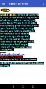 Screenshots - KATE SUREBET PREDICTION